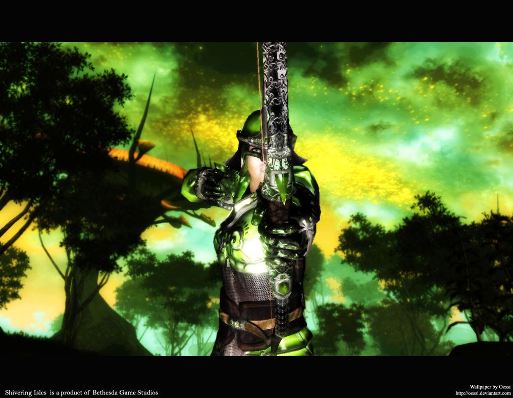 Oblivion Wallpaper Green By Oessi