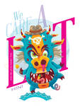 We Care a Lot - T-Shirt (H1N1 Virus Character) by djyerba