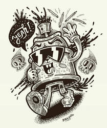 Graffiti oh yeah... no time for pencils !!  by djyerba