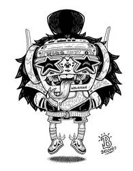 True Rock God _ Lineart by djyerba