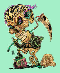 True Death God - in Technicolor by djyerba