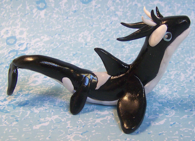Another Orca dragon by DaniClayCreations