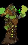An orc female Warlock