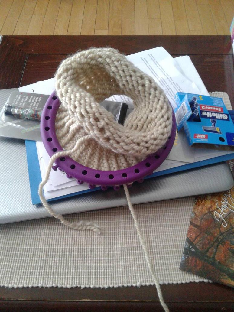 progress on project #1 Beanie hat by Thatotakugal39