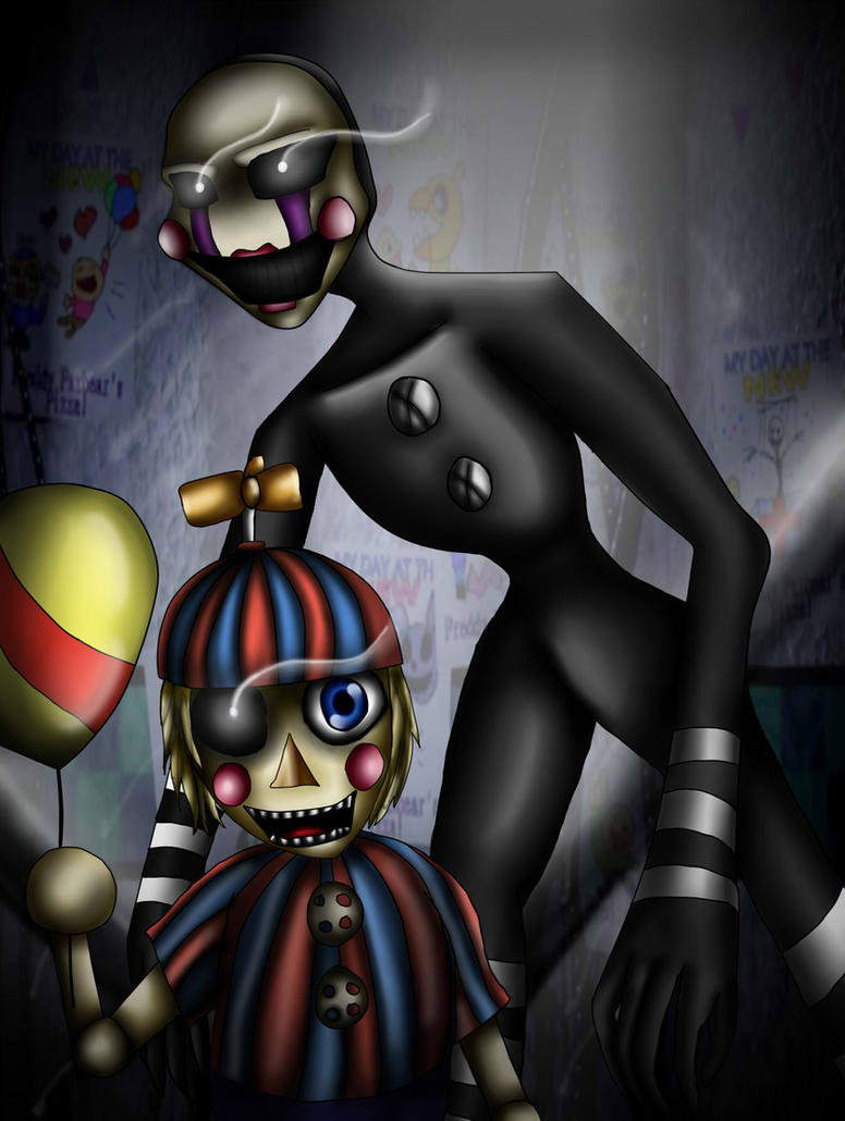 Fnaf the puppet and balloon boy by mgwolf999 on deviantart