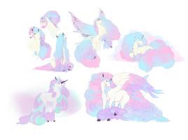 cotton candy pony plethora