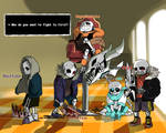 *you faced five sans on judgement hall.