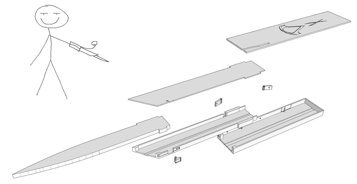gravity hidden blade with locking mechanism by samsins on deviantart rh samsins deviantart com Hidden Blade Blueprint Plan Hidden Blade Blueprint Plan