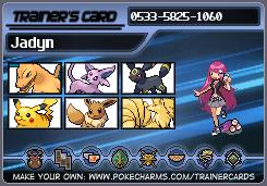 Pokemon Trainercard - Jadyn by Jhadin