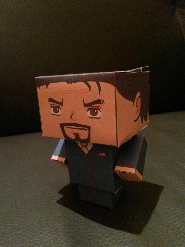 Tony Stark - Cube by Jhadin