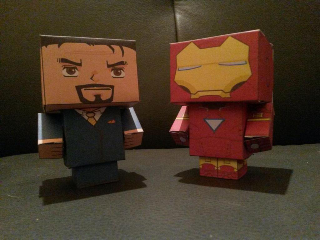 Ironman - Tony Stark - Cube by Jhadin