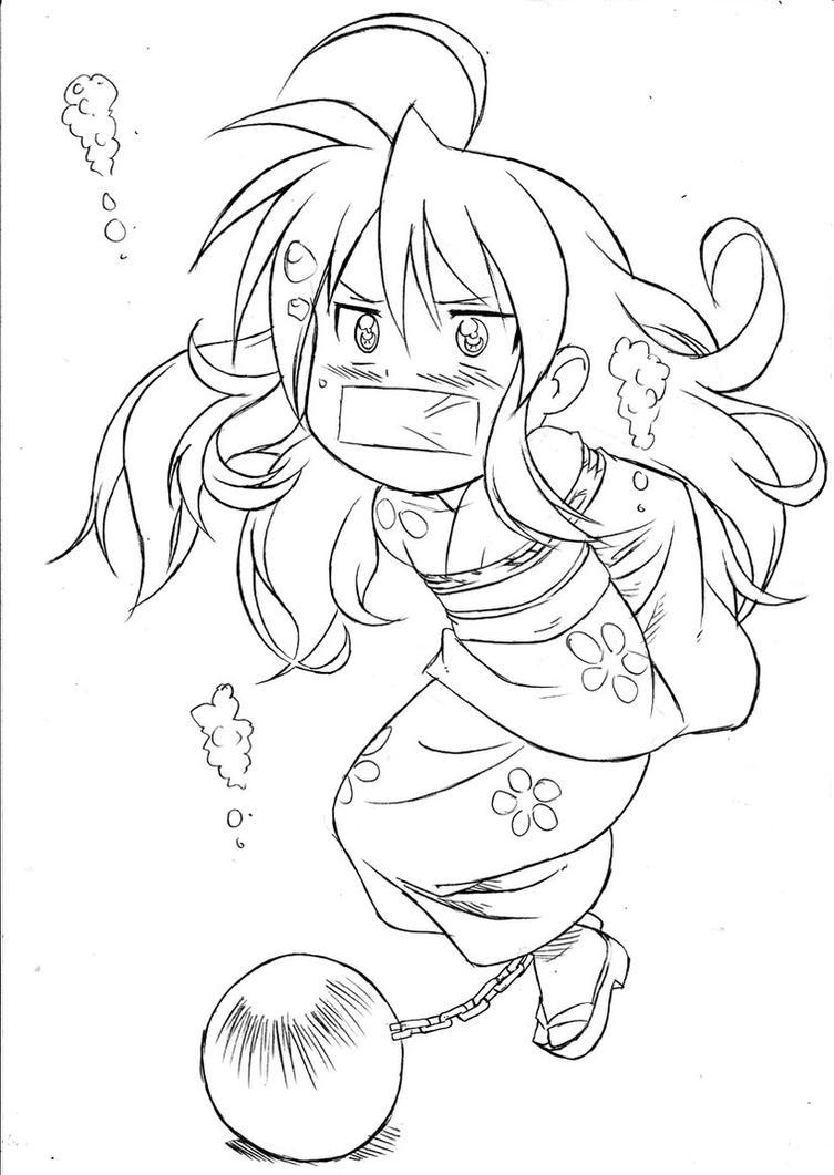 Konata Drowning Peril by Daikinbakuju