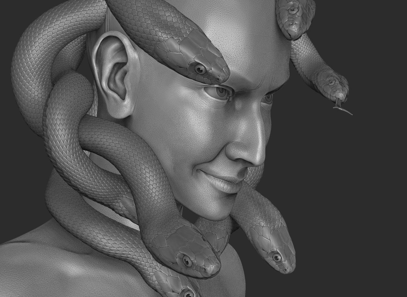 Medusa closeup by Leifa
