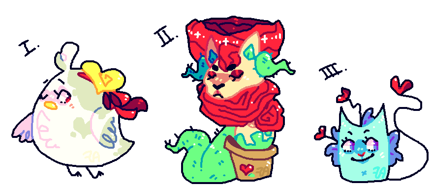 Valentine Adoptables: (Open) 3. by afroclown
