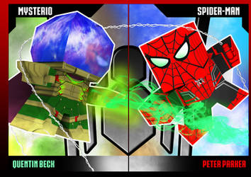 Mysterio vs Spider-man by jepipapercraft