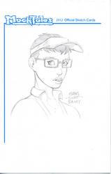 Barista Girl Sketch Card 001 by gregscottbailey