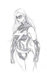 Ms Marvel pencils by gregscottbailey