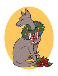 Christmas Cat - Sleek