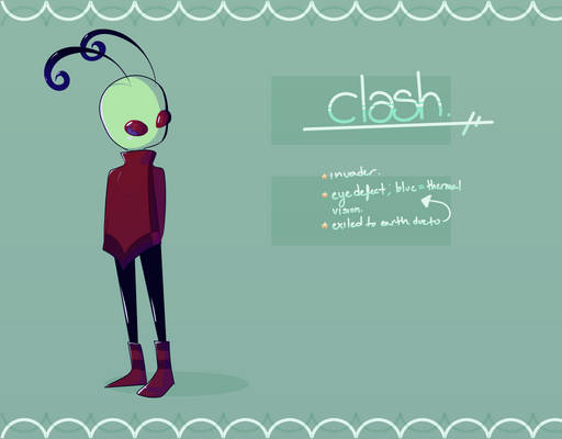 clash . [ invader zim oc ]