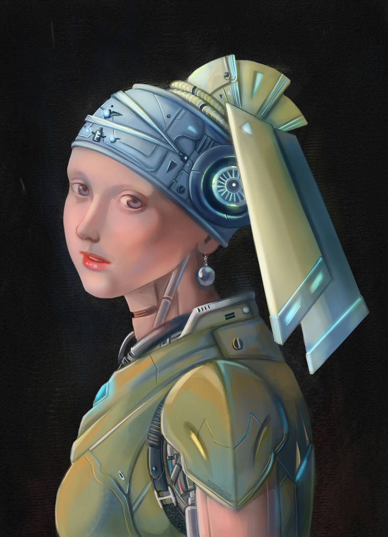 Redraw Girl with a pearl earring.