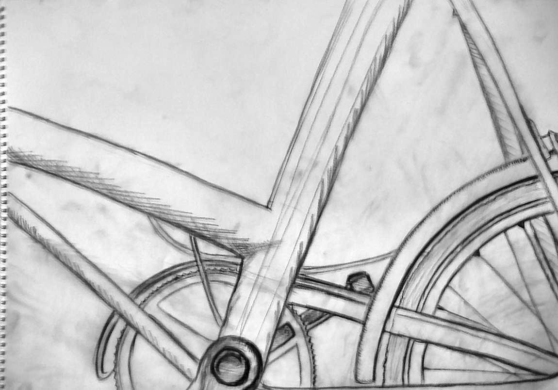 Line Drawing Bicycle : Bicycle line drawing by amused coconut on deviantart