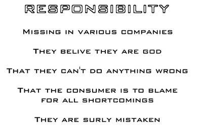 Responablity - Missing in... by Dynamoace