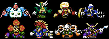 Mega Man 6 Robot Masters Opening Sequence in color