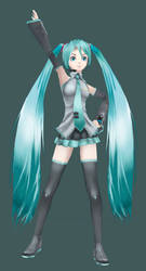 3d - Hatsune Miku by Athey