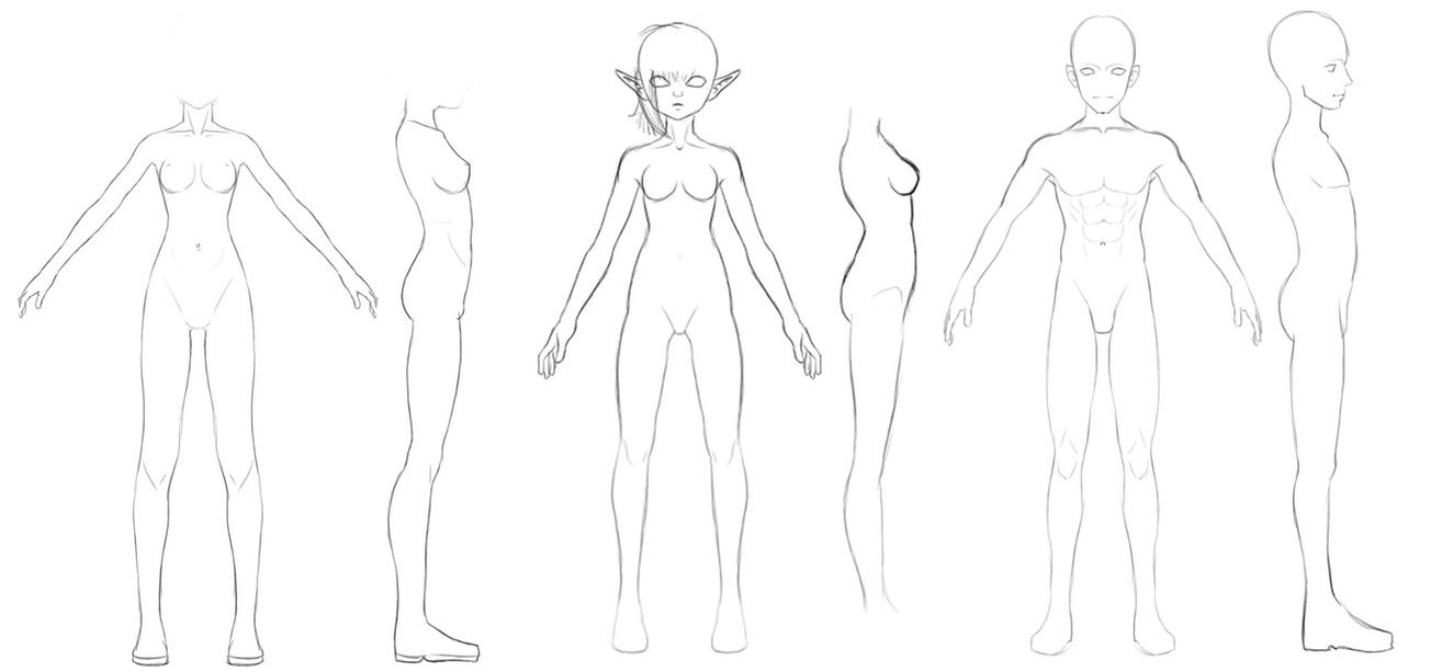 Front and Side Body references by Athey