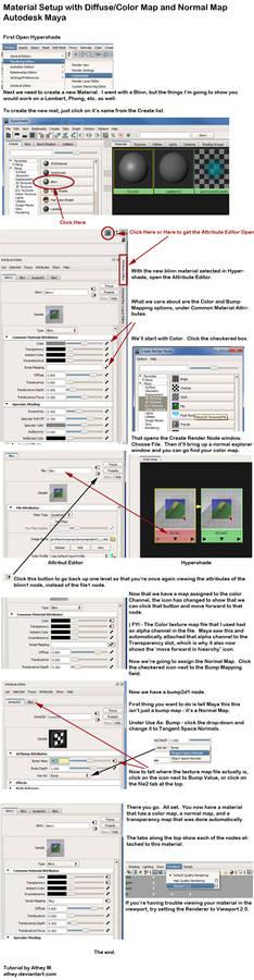 Maya - beginner tutorial Material Setup