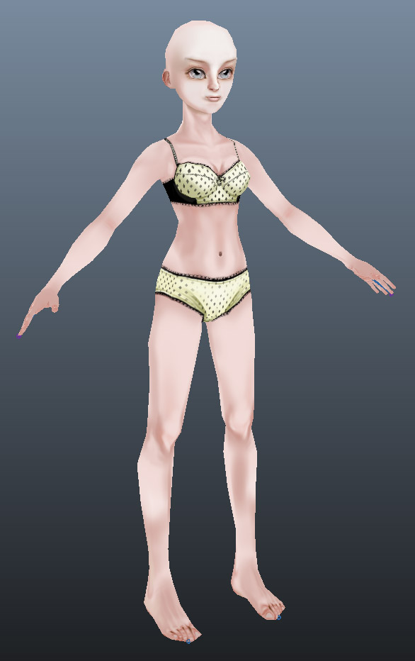 Demo girl wip 01 by Athey