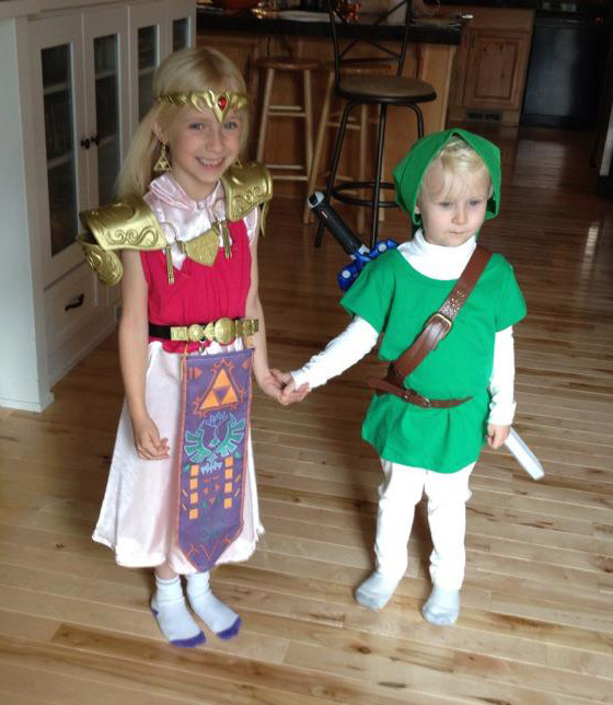 Link and Zelda by Athey