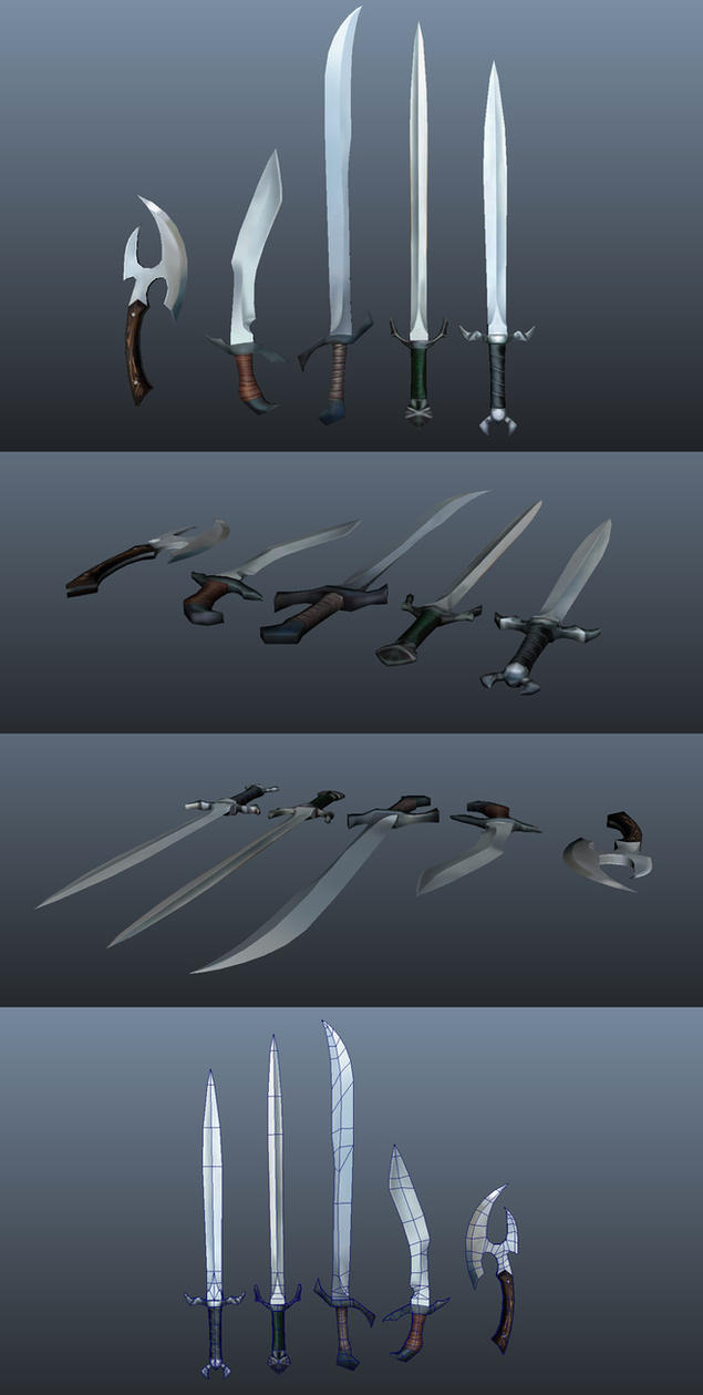 Fantasy Weapons by Athey