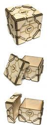 Lasercut Portal Companion Cube by Athey