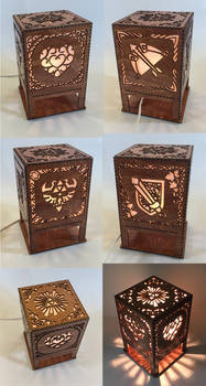 Legend of Zelda lasercut lamp