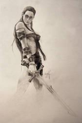 girl sword by Hernysite