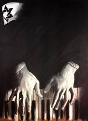 The pianist -Chalk- by Hernysite