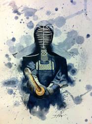 Kendo Watercolor by Hernysite