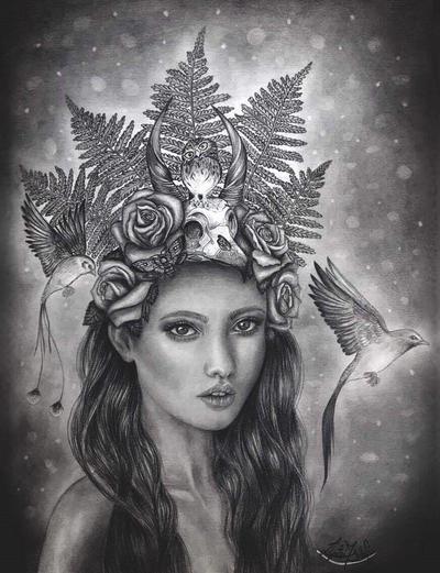 Fairy girl and her little owl by liptaizsofi