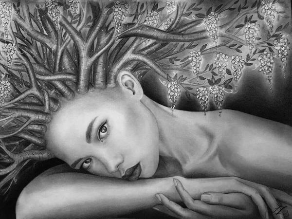 Nymph girl by liptaizsofi