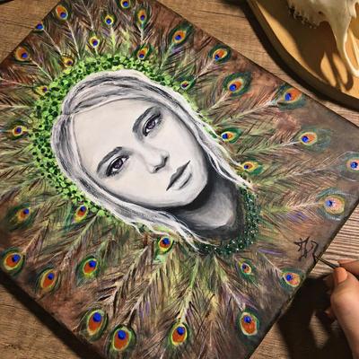peacock girl by liptaizsofi