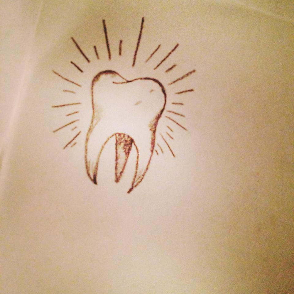 tooth tattoo by anjaabsinthe on deviantart. Black Bedroom Furniture Sets. Home Design Ideas