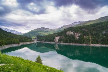 Lake Marmorera, Switzerland by 1darkstar1