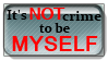 It's not crime to be myself stamp by Kharotus