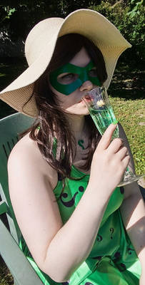 Riddler cosplay: green summer days