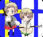 Hetalia Sweden and Finland Chibis
