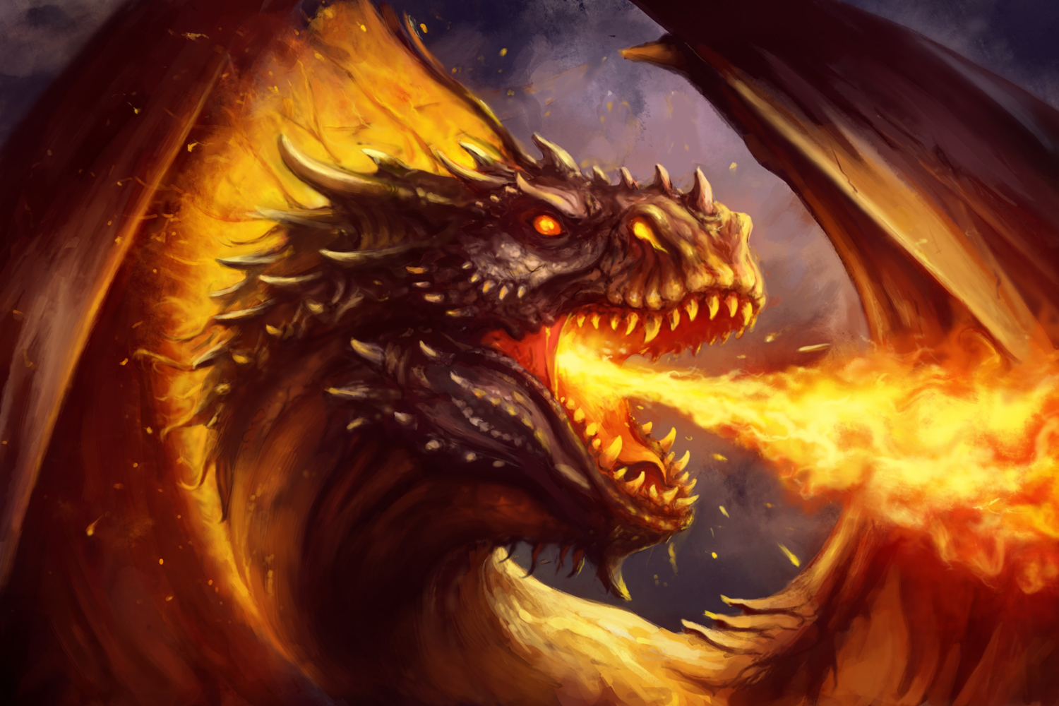 Red Fire Dragon: Fire Dragon By PaladinPainter On DeviantArt
