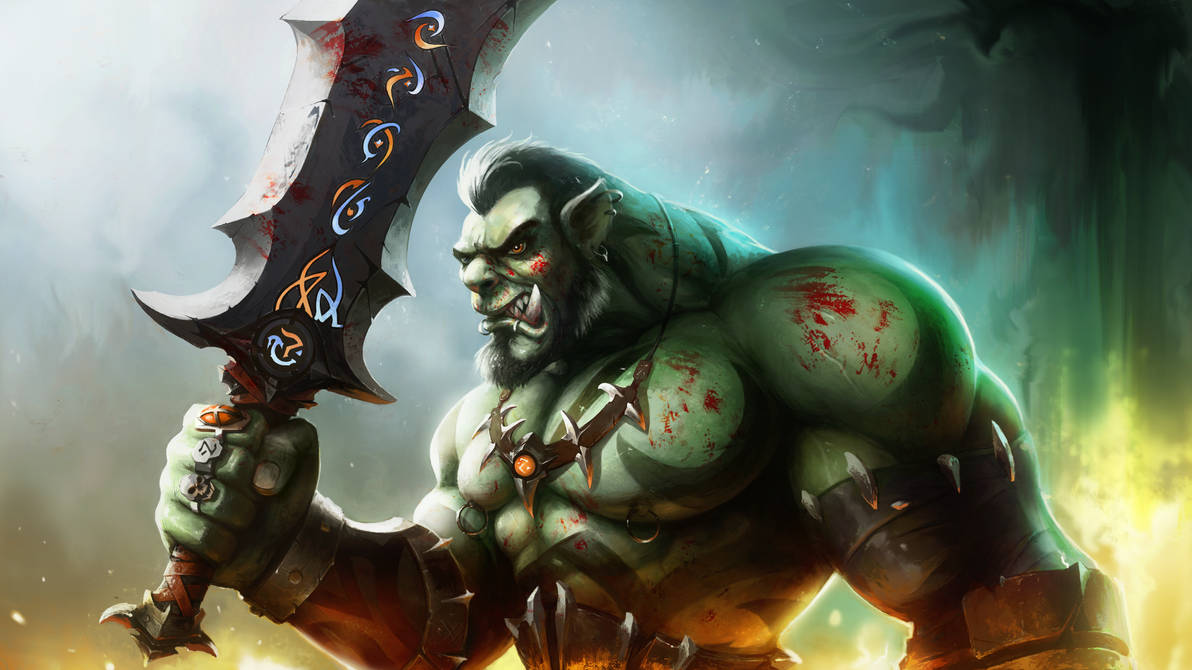 Orc warrior : the cursed blade. by PaladinPainter