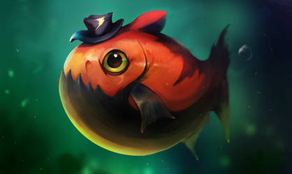 Mr Fish commission by PaladinPainter