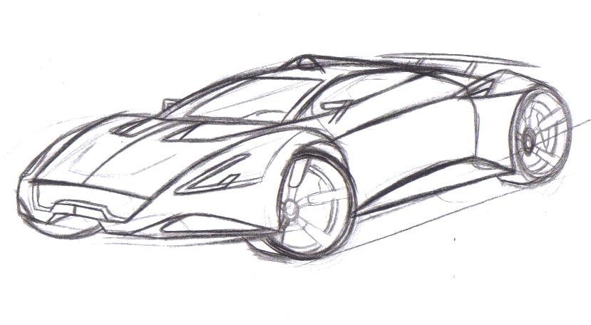 Carbon Supercar Sketch By Dyrborgdesign On Deviantart